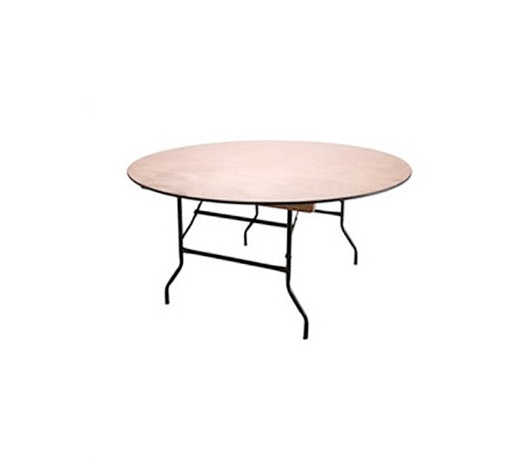 5ft Round Wooden Trestle Table Banqueting7 Drakes Bar