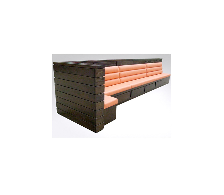 Free Standing L Shaped Banquette Fixed Seating Fs46