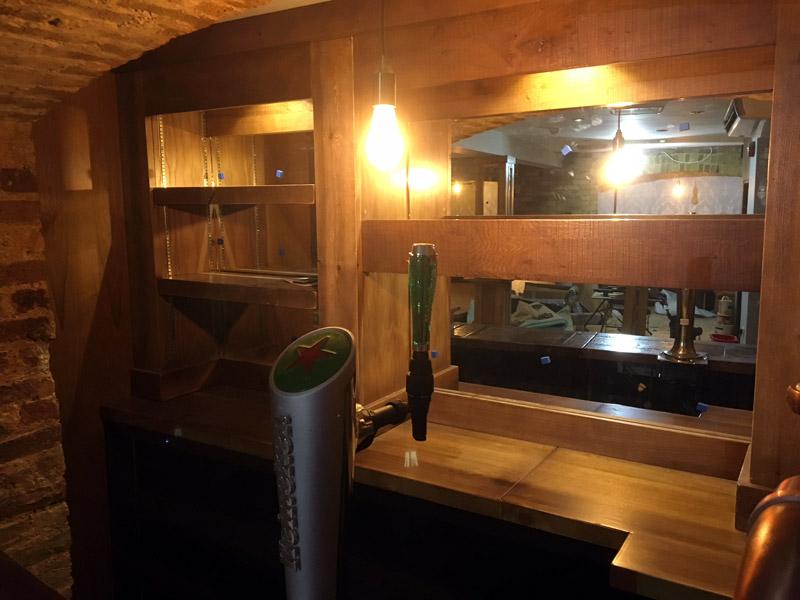 Bespoke rustic bar