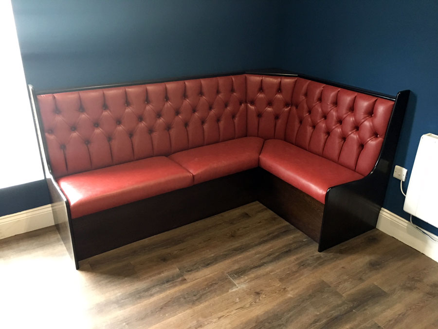 Fixed booth seating for Barbers in Leeds