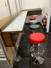Fast Food stools seating and table